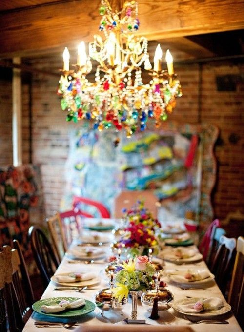 Colorful chandelier. | home | Pinterest | Bohemian house, Home and Bohemian decor