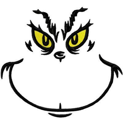 Grinch Face Template | New Calendar