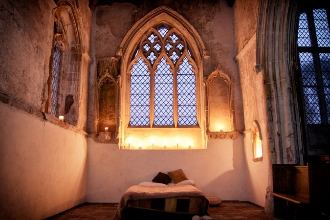 Champing!  Camping in some of England's churches- image copyright Neil Randall