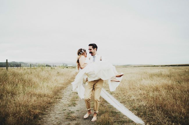 Long Branch Farms Laid-back Western Town Wedding: Stephanie + Jordan