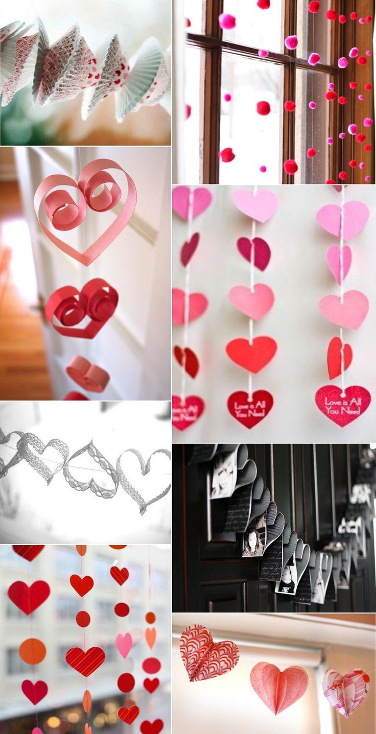 Valentine's Day decorations.