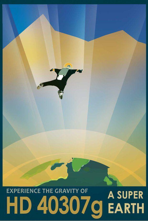 Zdjęcie numer 3 w galerii - Wizja przyszłości na plakatach NASA. Podróże kosmiczne będą codziennością?