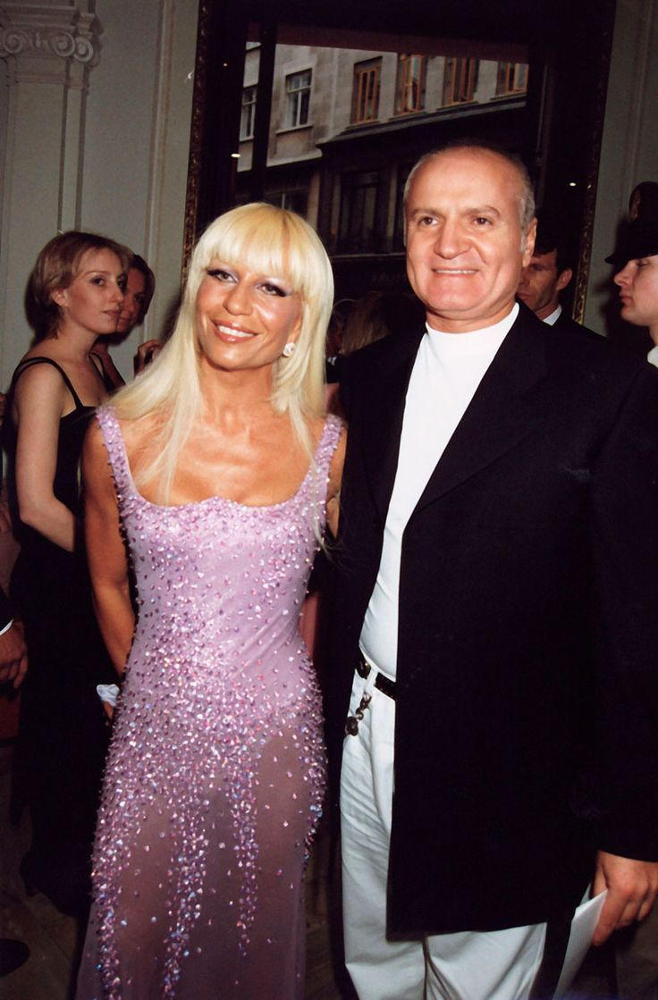 Donatella And Gianni Versace