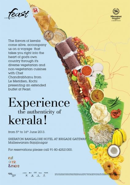 Experience the unique spices, aromas and textures of Kerala as Sheraton Bangalore Hotel at Brigade Gateway brings to you the Kerala food festival with an extended buffet at Feast. Don't Miss it....  http://www.buzzintown.com/bangalore/event--kerala-food-festival/id--786827.html
