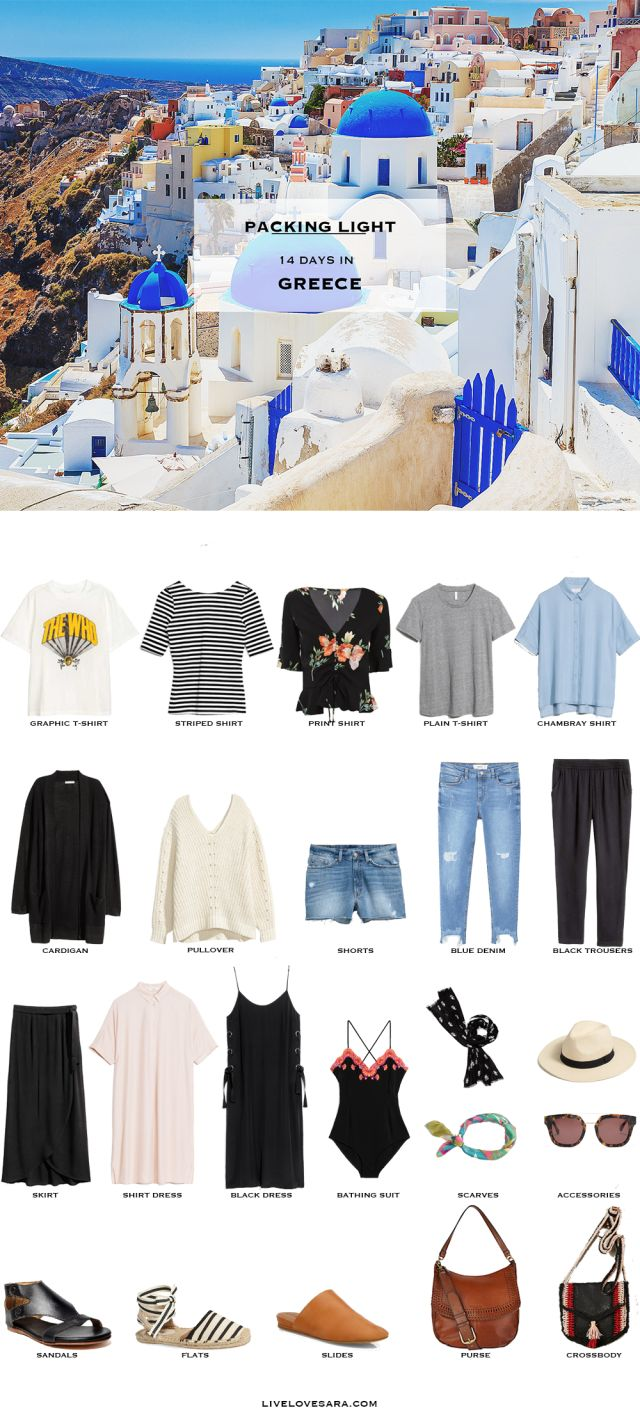 What to Pack for Greece Packing Light List