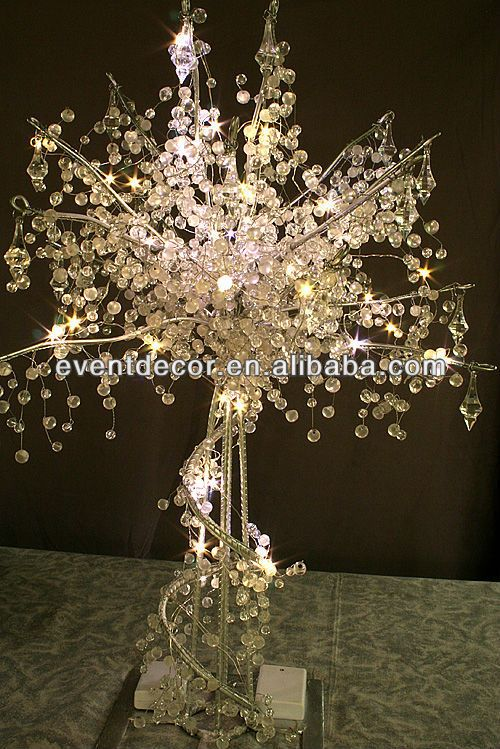 lighted tree centerpieces for weddings acrylic crystal. Black Bedroom Furniture Sets. Home Design Ideas