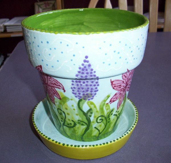 1000 images about painting on flower pots on pinterest for Paint and pottery