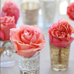 Beautiful Moroccan tea glasses for floral decor, desserts or to light up the night!
