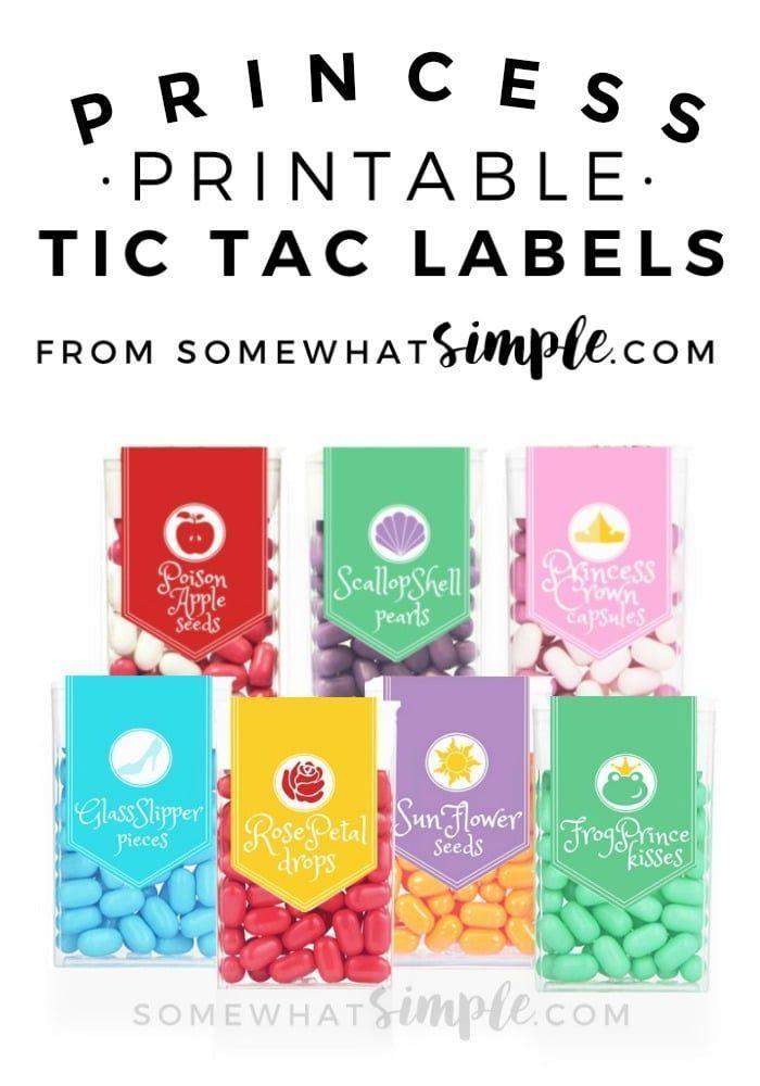 Princess Tic Tac Labels   Printable labels, Celebrations