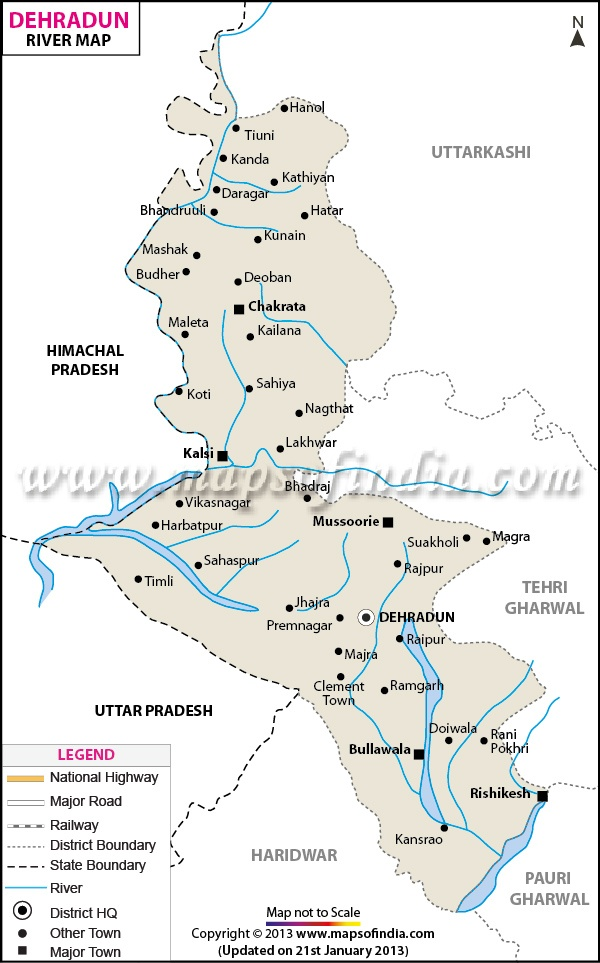 dehradun river map httpwwwmapsofindiacommapsuttaranchal