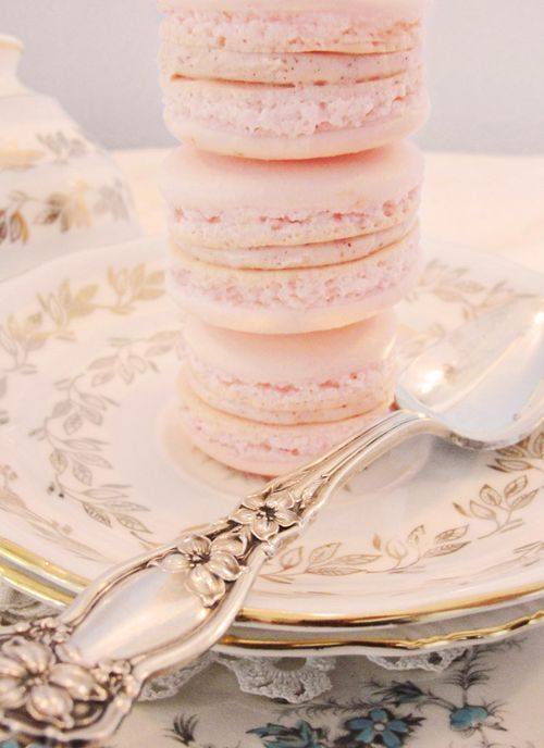 French Macaroons and vintage china.