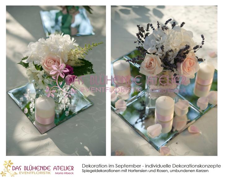 tischdeko spiegel wedding decoration pinterest. Black Bedroom Furniture Sets. Home Design Ideas