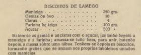 Portugal Feminino, nº 47, Dezembro de 1933. Biscoitos de Lamego Manteiga - 250 grs. Gemas de ovo - 10 Claras - 4 Farinha de T...