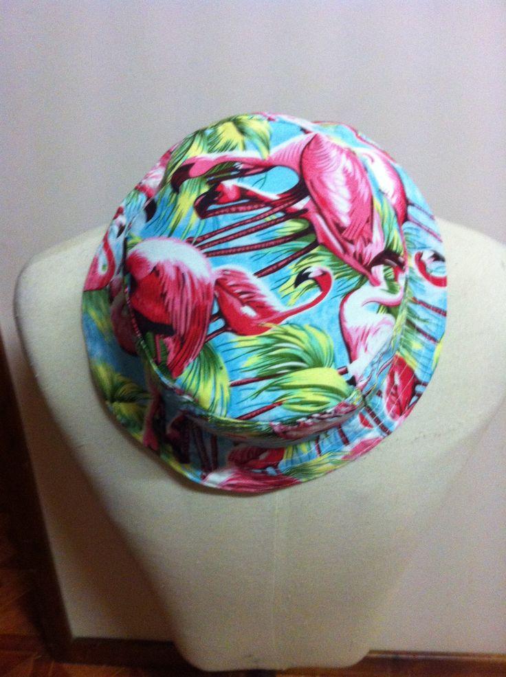 Flamingo Bucket Hat .