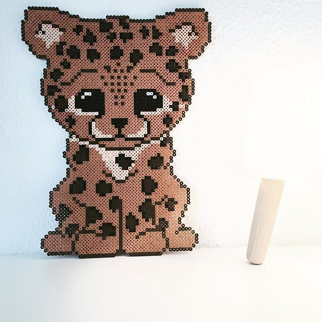 Baby Cheetah hama beads by takacs_anja - Pattern: https://de.pinterest.com/pin/374291419013031074/