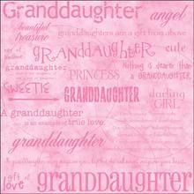 "Granddaughter 12"" x 12"" Scrapbook Paper"