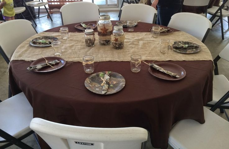 Rustic Camo Shower Burlap And Camo Table Setting