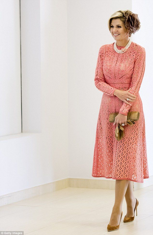 Queen Maxima looked radiant on the second day of the Dutch royals' state visit to Portugal...