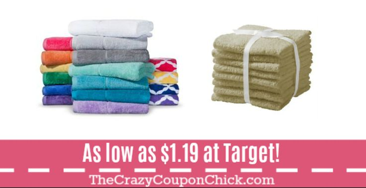Last CHANCE!! Bath Towels & Washcloths as low as $1.19 at Target!