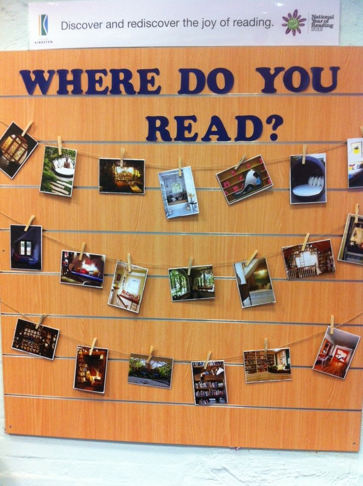 Library display, Where Do You Read?