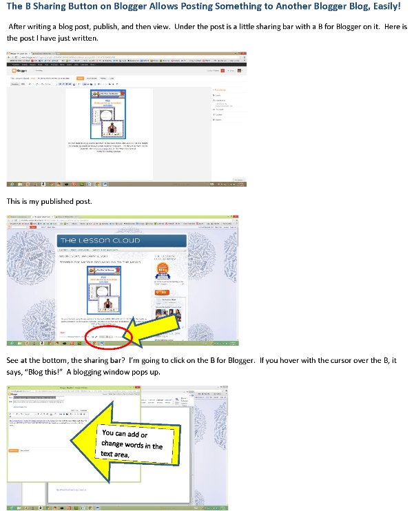 How to post to multiple blogs using the B sharing button on Blogger