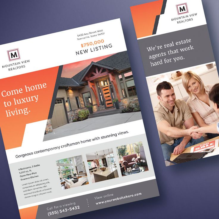 Best Real Estate Marketing Images On   Flyer Template