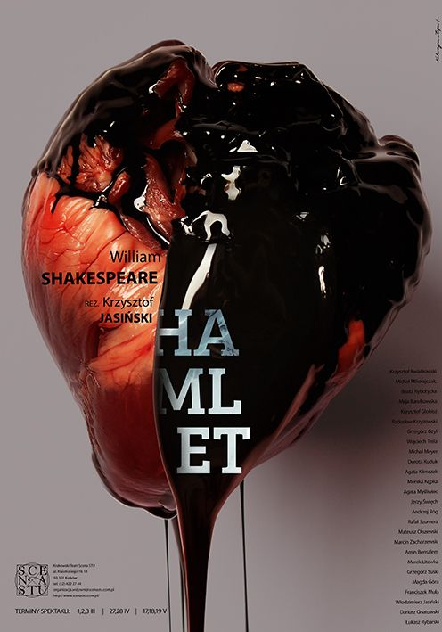 Theatre Posters by Katarzyna Zapart, via Behance (don't understand a thing but Cracow is totally happening!)