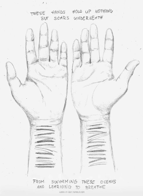 Drawing Lines On Your Wrist : Best self harm drawing images on pinterest depressing
