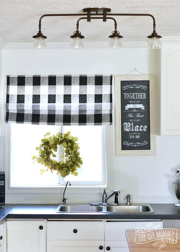 inexpensive kitchen curtains best buffalo check ideas on gingham