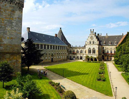 Bad Bentheim. Binnenhof van de burcht