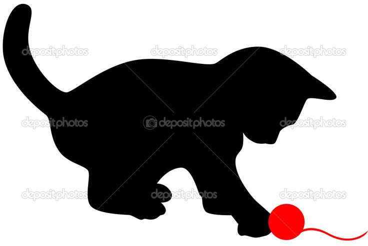 Descargar - Silueta de gato — Ilustración de stock #2234965