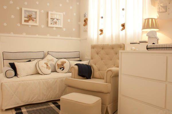 Papel ed parede compondo dois tipos em quarto de bebe - Papel de pared bebe ...
