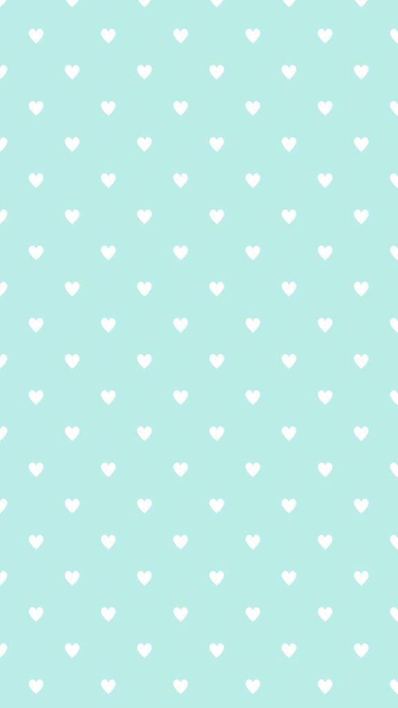 Aqua hearts wallpaper