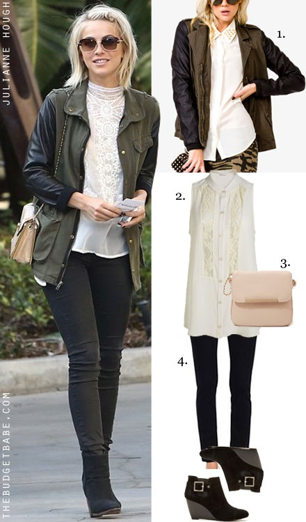 Green army leather sleeves jacket outfit | Outfits | Pinterest ...