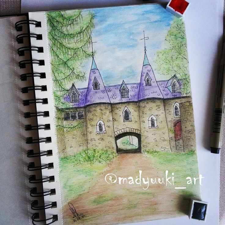 Ravenloft castle by @madyuuki_art    https://instagram.com/madyuuki_art/ http://yuki-chan-xdxd.deviantart.com/ #madyuuki_art #ravenloft #castle #upstate #new #york #architecture #drawing #drawings #building #buildings #landscape #art #artist #crayons #watercolor #arts_help #polishartist #good #pretty #artdrawingg #art_spotlight #sketch #sketchbook #arqsketch #bestoftheday #bestdrawing #instafollow #instagood #poland