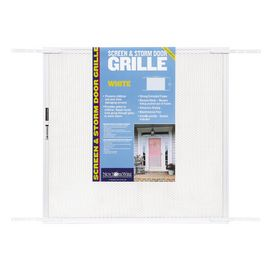 """New York Wire 24"""" x 30"""" to 36"""" Door Grill White Mesh item"""