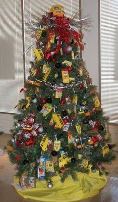 School themed Christmas tree. @Sarah Boone
