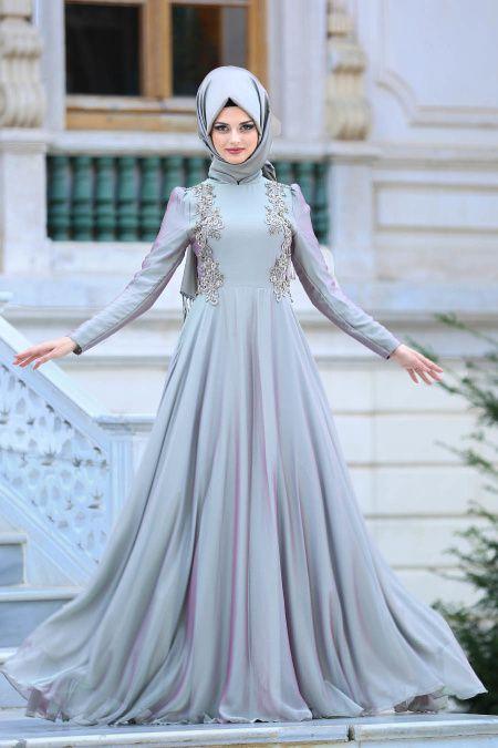 b19e81077ae15 Tesettur Elbisesi adlı kullanıcının Tesettür Giyim panosundaki Pin, 2019 |  Hijab fashion, Hijabi gowns ve Dresses
