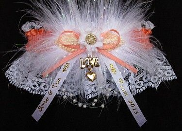 Love Changes Everything. This is your Prom Garter in 175 colors to match your Prom dress and available on white or black lace. Also offered in silver or gold metallic band and trim. Your names and event are imprinted on ribbon tails. Personalize your Prom Garter with a Love w/Heart Charm or select from 70 other charms to attach to your Prom Garter. #PromGartersPersonalized #PromGartersCustom #PromGarters #Prom2015 - Visit: www.garters.com/Prom_Garters_Personalized-37b.htm