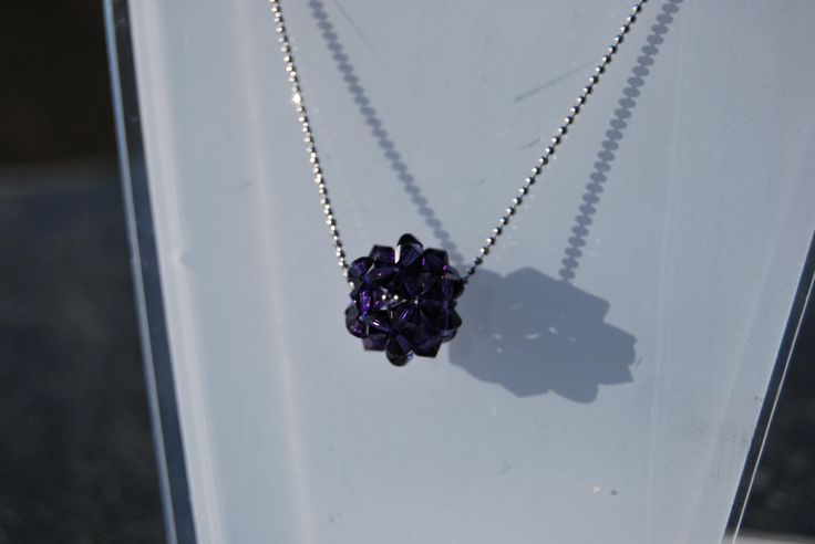 Purple Swarovski necklace by NorthernlightsNO on Etsy