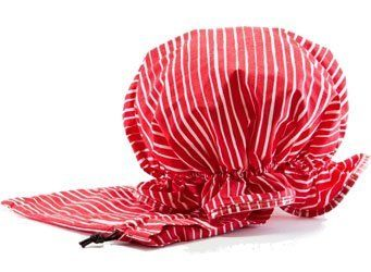 """Jimeale New York Shower Cap, Someera by Jimeale New York. $15.95. This is the perfect gift whether it be to spoil yourself or a friend! These shower caps are not only stylish and chic but practical! They make """"squishing"""" your hair bearable with soft elastic and plenty of material to work with."""