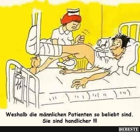Weshalb die männlichen Patienten so beliebt sind.. | Lustige Bilder, Sprüche, Witze, echt lustig