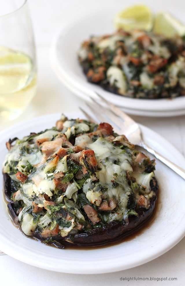 This mouthwatering Spinach and Goat Cheese Stuffed Portobello Mushroom ...