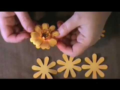 Uppsie daisy paper flower tutorial
