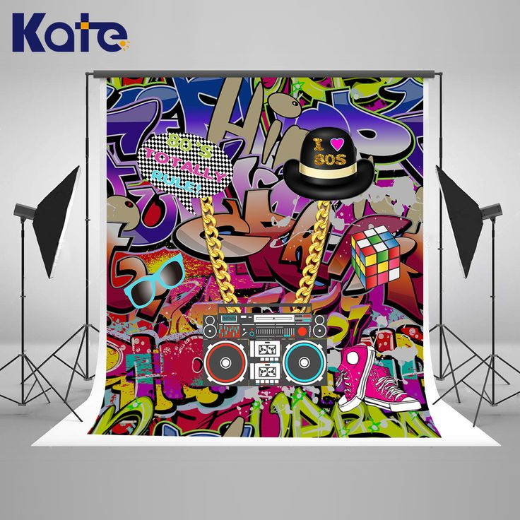 Find More Background Information about Kate Graffiti Wall Birthday Background 10ft  Hip Pop Background For Photos With Shoe Hat Recorder Backgrounds Photo Studio,High Quality Background from Marry wang on Aliexpress.com