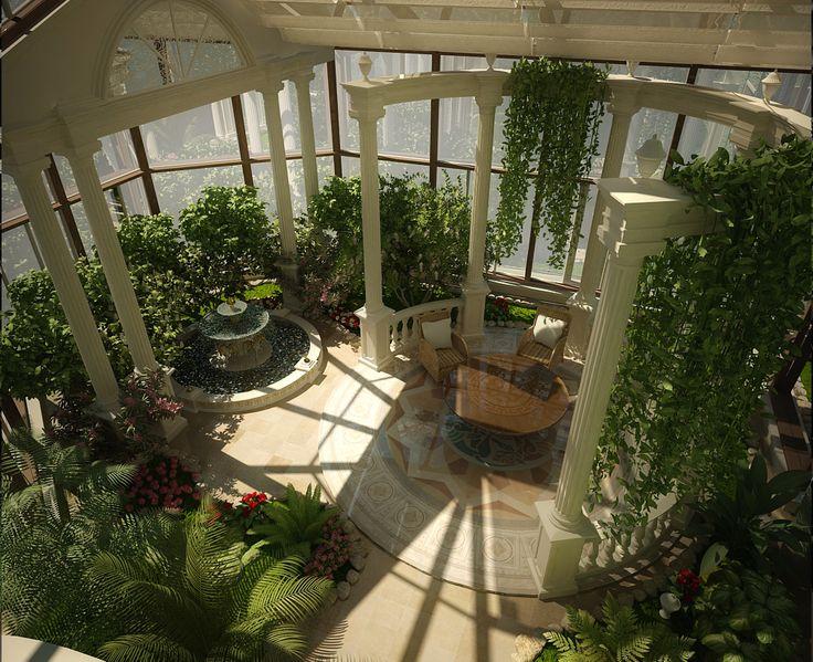 дизайн интерьера зимнего сада - Поиск в Google