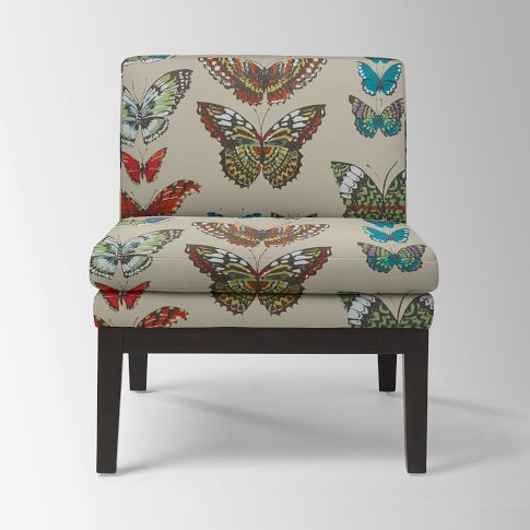 Wonderful Chair, Not The Print West Elm Slipper Chair In Sarah Campbellu0027s Butterfly  Print