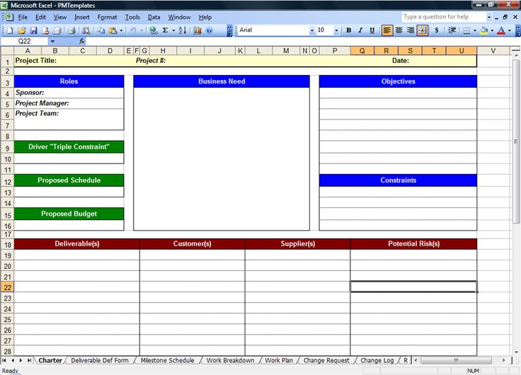 Project Plan Excel Template Free