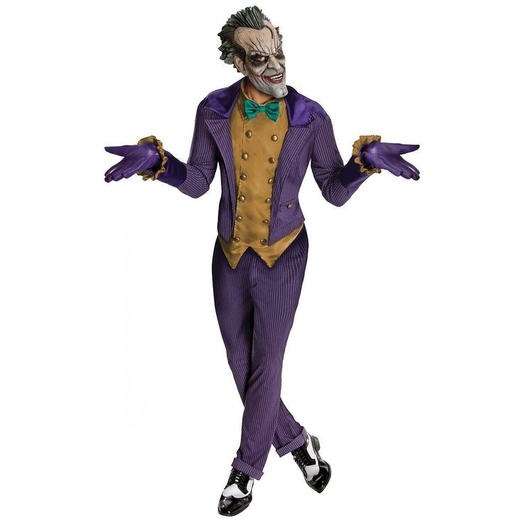 joker costume adult arkham city superhero villain fancy dress available at ebaycom http - Ebaycom Halloween Costumes