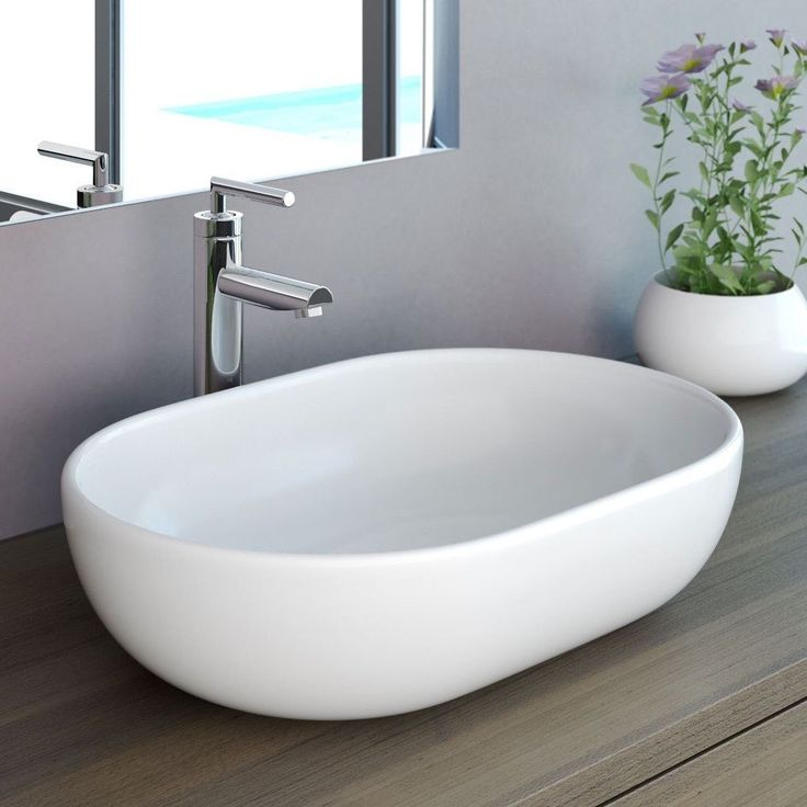 NEG Waschbecken Uno34A Aufsatz-Waschschale/Aufsatzbecken/Waschtisch Lotus-Effekt | eBay